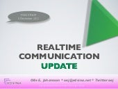 FOSS Sthlm: Realtime Communication Update