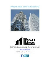 Passive Real Estate Investing, Real...