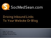 Real ways to drive inbound links to your blog posts
