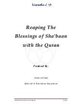 Reaping The Blessings of Sha'baan w...
