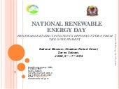 Rea presentation to Renewable energ...