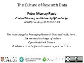 The culture of researchData