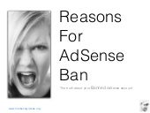 Reasons For AdSense Ban - The truth...