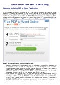 Reasons for using pdf to word free online   free pdf to word blog