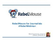 RebelMouse for Journalists Webinar