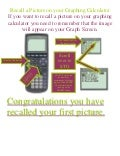Recall A Picture On Your Graphing Calculator