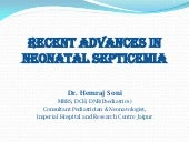 Recent advances in neonatal septicemia