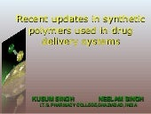 Recent updates in synthetic  polyme...