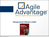 Recognizing Software Debt - Beyond Agile Puget Sound