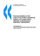 Recommendation OCDE 2009 (further i...