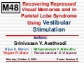 Recovering repressed visual memories and in parietal lobe syndrome using vestibular stimulation