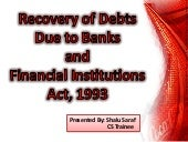 Recovery of debt due to bank and fi...