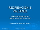 Recreacion & Valores