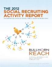Recruiter Report 2012
