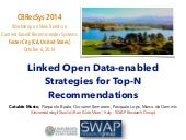 Linked Open Data-enabled Strategies for Top-N Recommendations