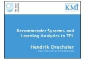Recommender Systems and Learning An...