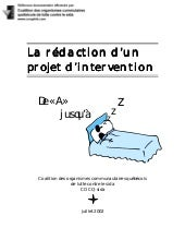 Rédaction d'un projet d'intervention