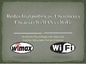 Redes inalámbricas, Wimax Vs, Wifi