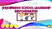 Redifining school leadership respon...