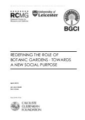 Redefining The Role Of Botanic Gard...