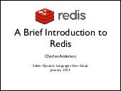 A Brief Introduction to Redis
