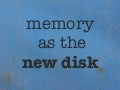 Redis -- Memory as the New Disk