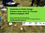 Sabine Junginger - Presentation for Immersion in Public Design -