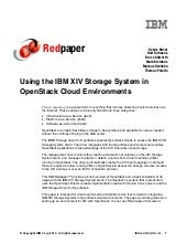 Using the IBM XIV Storage System in...
