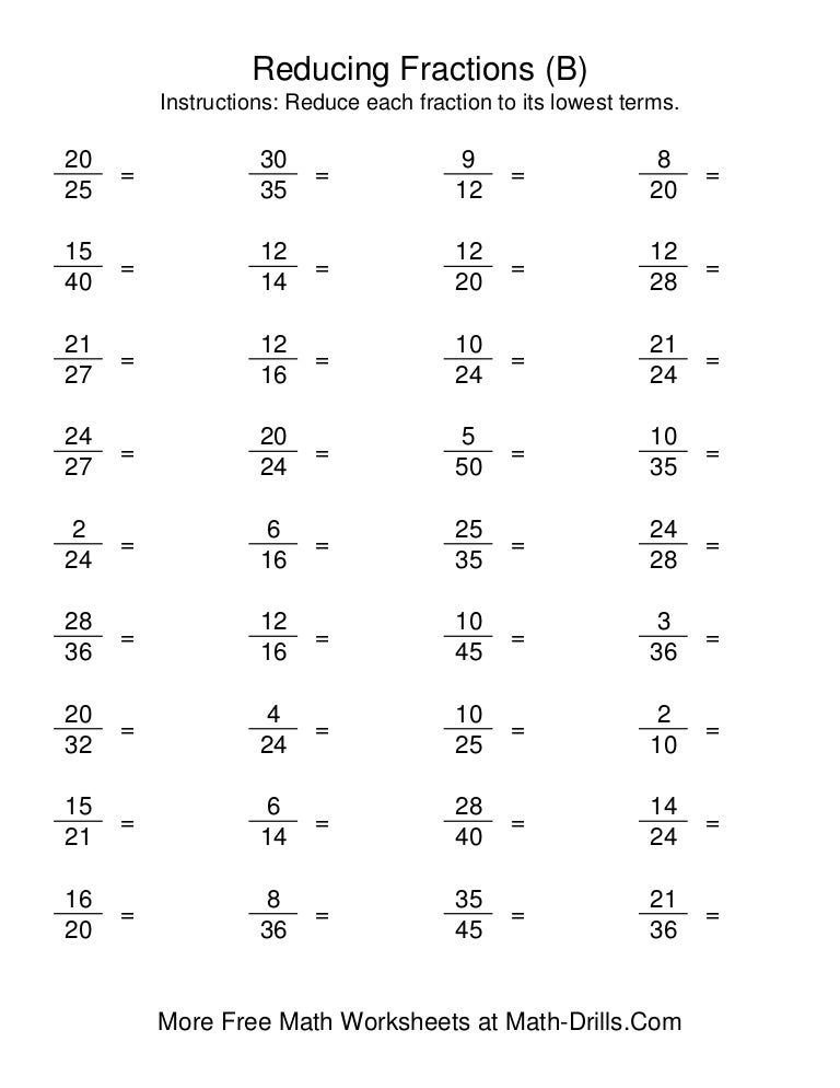 math worksheet : reducing fractions : 5th Grade Equivalent Fractions Worksheet