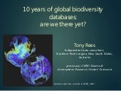 10 years of global biodiversity databases: are we there yet?