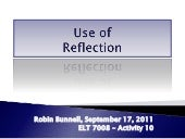 Use of Reflection