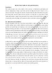 How To Write A Reflective Essay. Internship Reflection Essay My Reflection  Paper ...