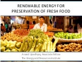 Renewable Energy for Food Preservation