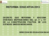 Reforma educativa y leyes secundari...