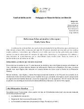 Reformas educativas 1810 1910
