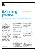 Reframing practice: integrating social software to enable informal learning.