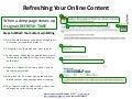 Refreshing Your Online Content [Process]