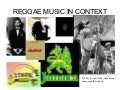 Reggae music in context
