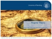 Regime theory – International Regimes