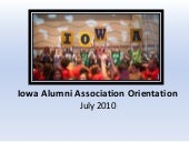 Iowa Alumni Meeting