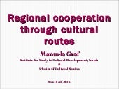 Regional cooperation through cultur...