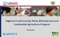 Regional Food Security Policy Effectiveness and Sustainable Agriculture Program