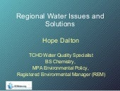 Regional Water Issues and Solutions...