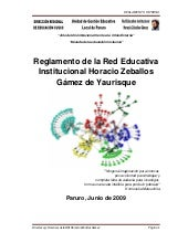 Reglamento Red Educativa Horacio Ze...