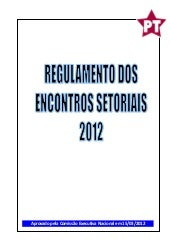 Regulamento Encontros Setoriais 2012