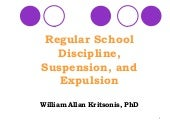 Regular Sch. Discipline, Suspension...