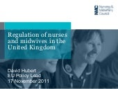 Regulation of nurses and midwives i...