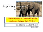 Regulatory analysis & approval of B...