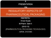 Regulatory aspect of pharamacutical...
