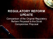Regulatory reform proposal comparison